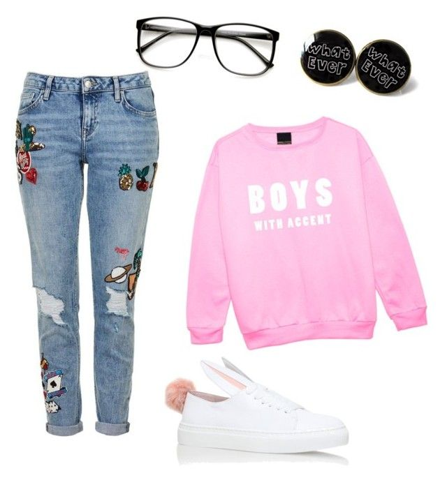 """""""Exchange Students (5SOS X Reader) Maddie's Outfit"""" by maddie-213 on Polyvore featuring Topshop and Minna Parikka"""