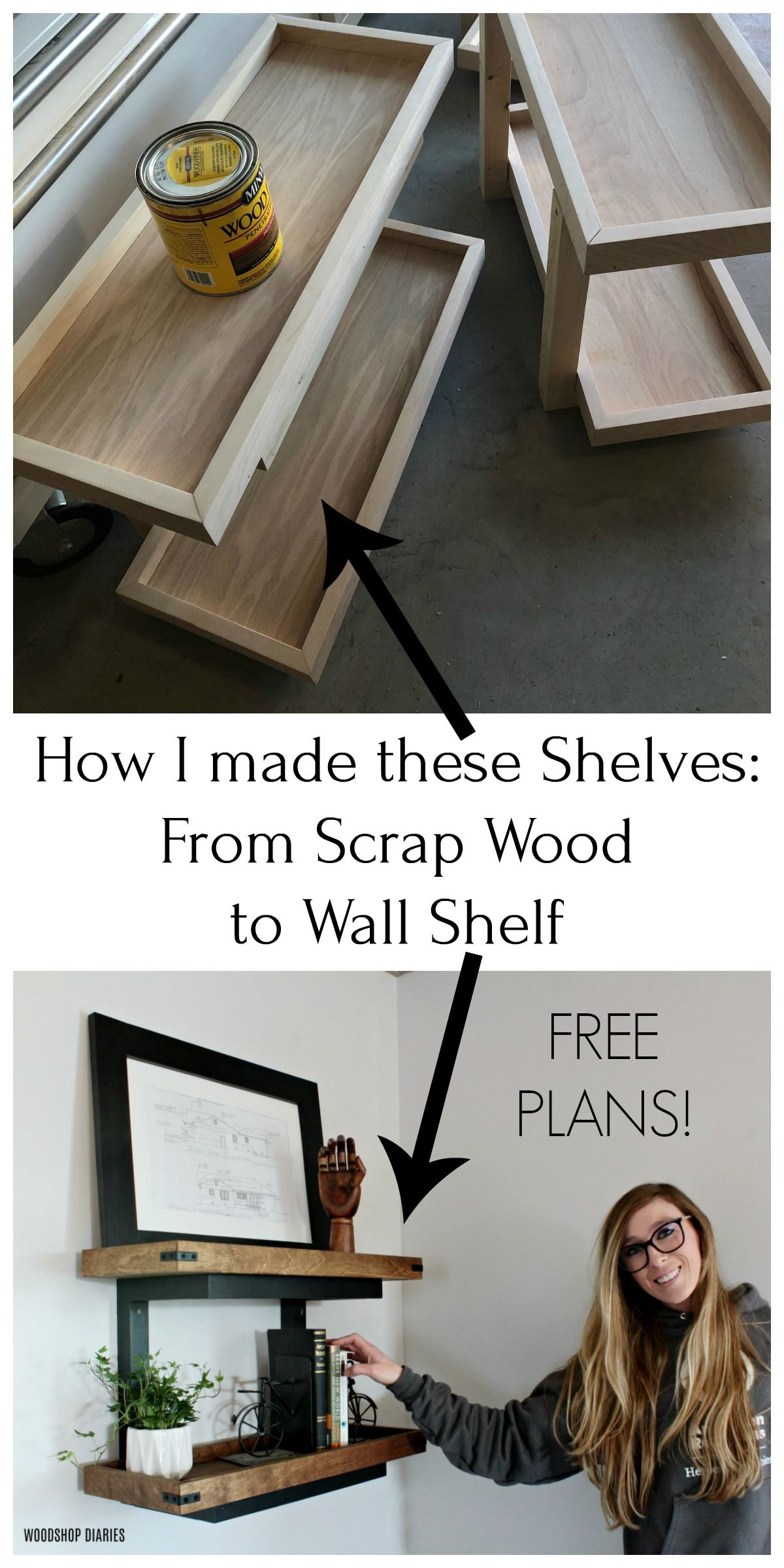 How To Build Floating Diy Wall Shelves Without Brackets From Scraps In 2020 Wall Shelves Diy Wall Shelves Floating Wall Shelves