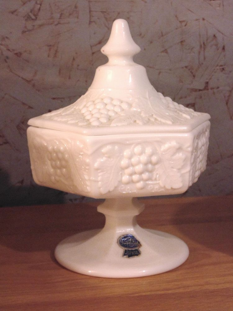 Vintage Milk Glass Candy Dish Lid and