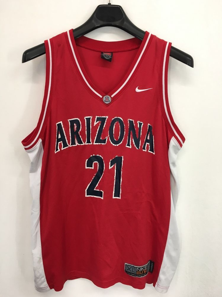 449fdde459c8 Mens xl nike elite arizona wildcats u of a  21 basketballl jersey vintage
