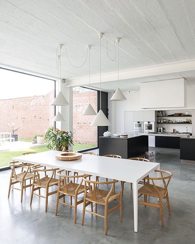 Concrete Floors Layout of the kitchen is rly nice Art and Design - credit impot maison neuve