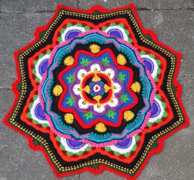 Mandala Mandala Haken Gehaakte Mandala Mandala Madness Cal 2016