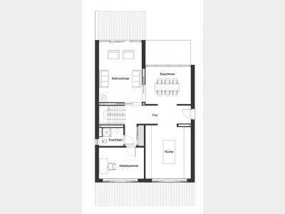 Grundriss EG Ökohaus Webb. Große, Helle, Halboffene Küche Mit Zugang Zum  Esszimmer Und