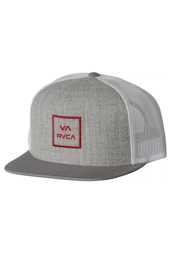 c57dce7d5e720 The RVCA VA All The Way III Trucker is an adjustable trucker hat with wool  front and nylon mesh back and VA stacked embroidered logo at front.  RVCA