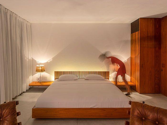 Elegant Bedroom Design In A Striking Modern House In Brazil