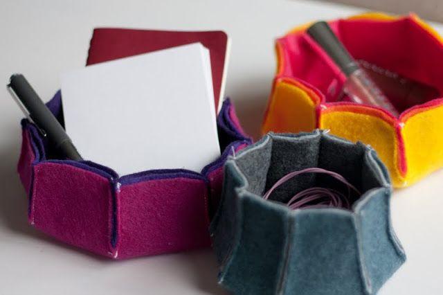 the b-line   bless you!: felt storage bowls {tutorial}