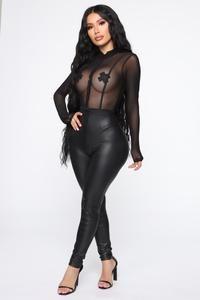 Andrea Mesh Bodysuit - Black 3
