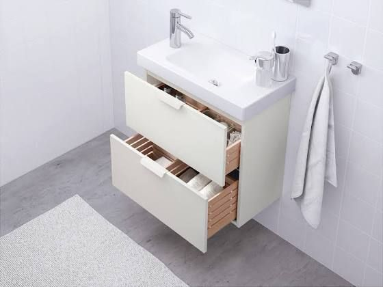 Ikea Godmorgon Waschbeckenschrank 2 Schubl 60x58x32 Cm Weiss Ikea Badezimmer Badezimmer Badezimmerwaschtisch