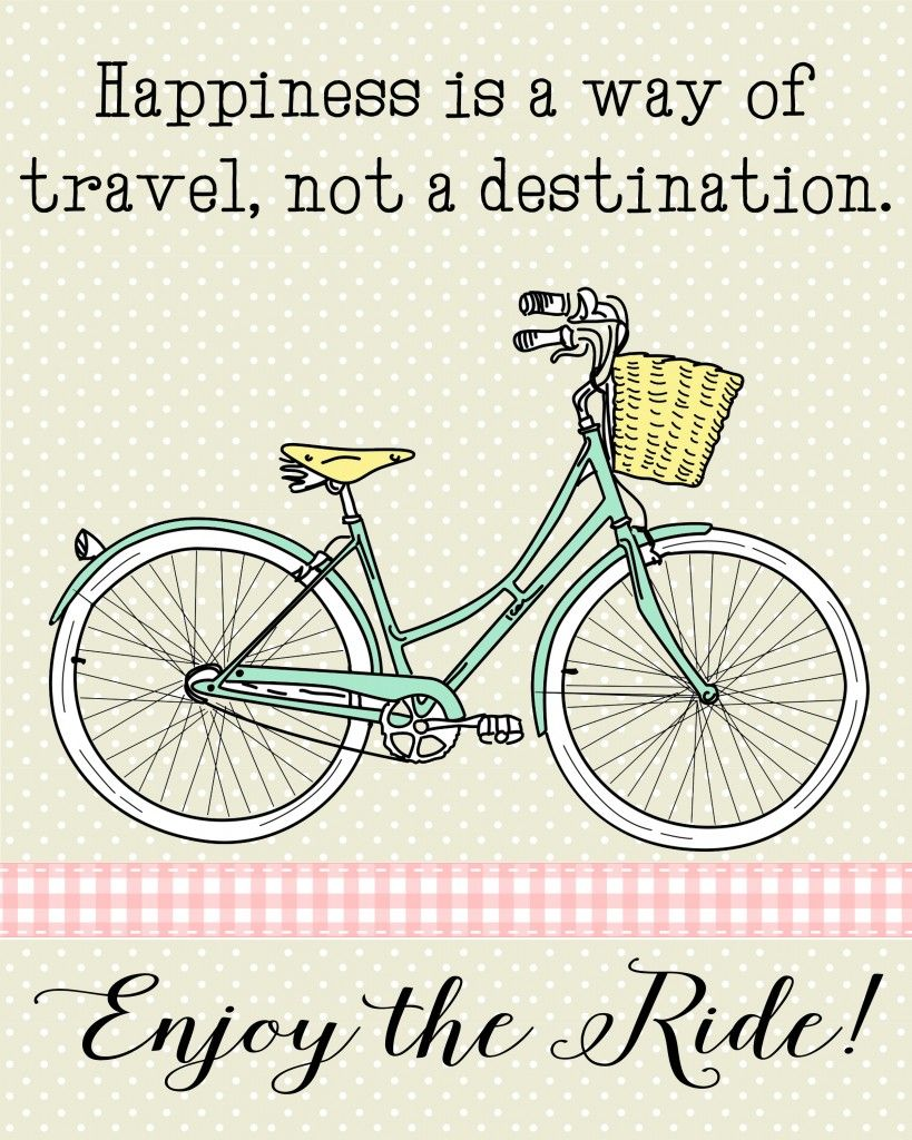 Enjoy The Ride Bicycle Printable I Love This Sweet Vintage Bike Print Ad Bicycle Quotes Bicycle Printable Cycling Quotes