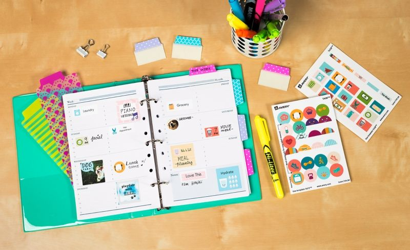 Save a bundle by creating your own planner stickers with free printables in the avery design