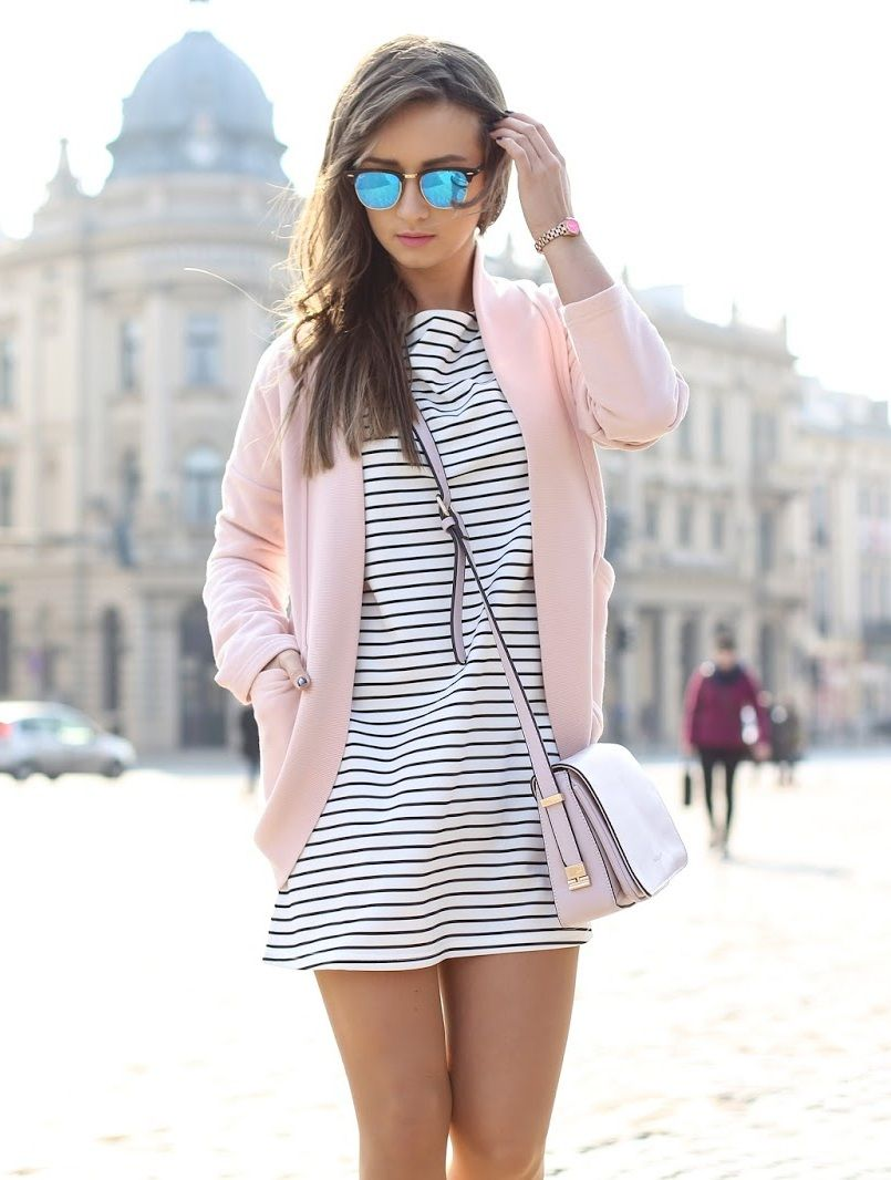 Dress sheinside jacket preska bag elilu sunnies ray ban
