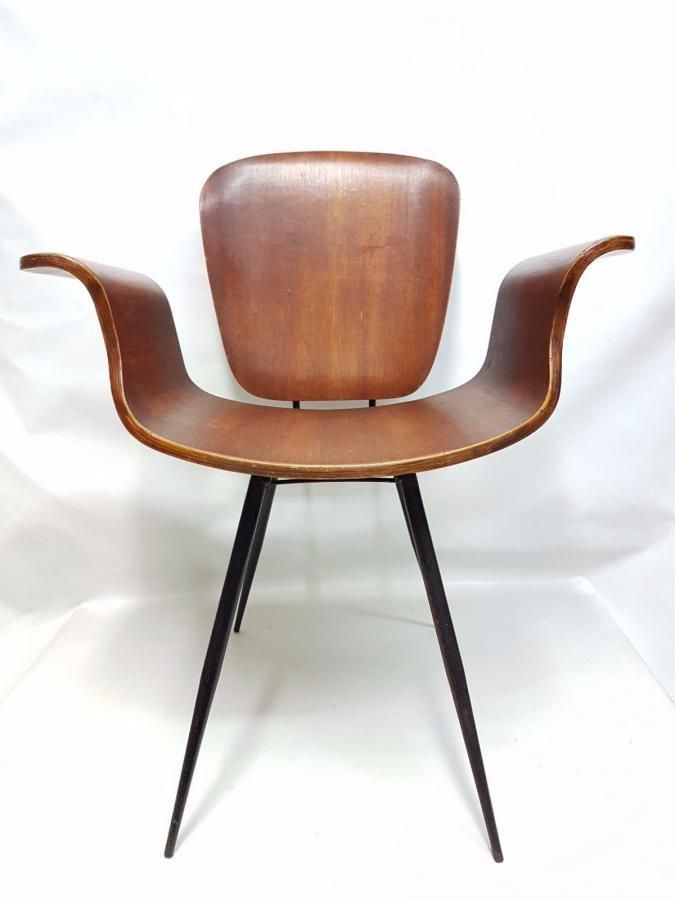 Rare Chair Armchair 60s Vintage Chairs Bent Plywood Chair Medea #Unbranded