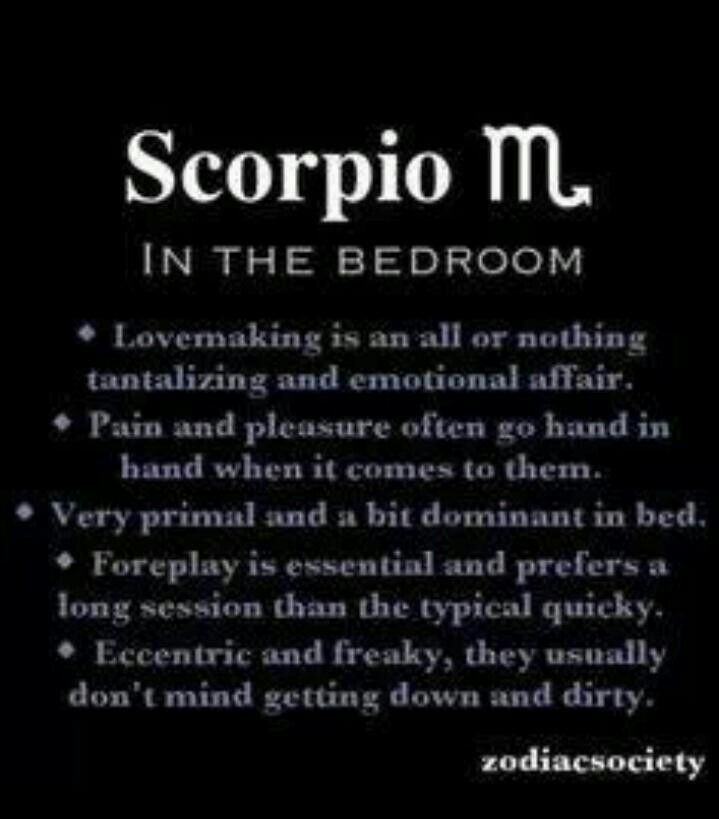 scorpios in bed astrology