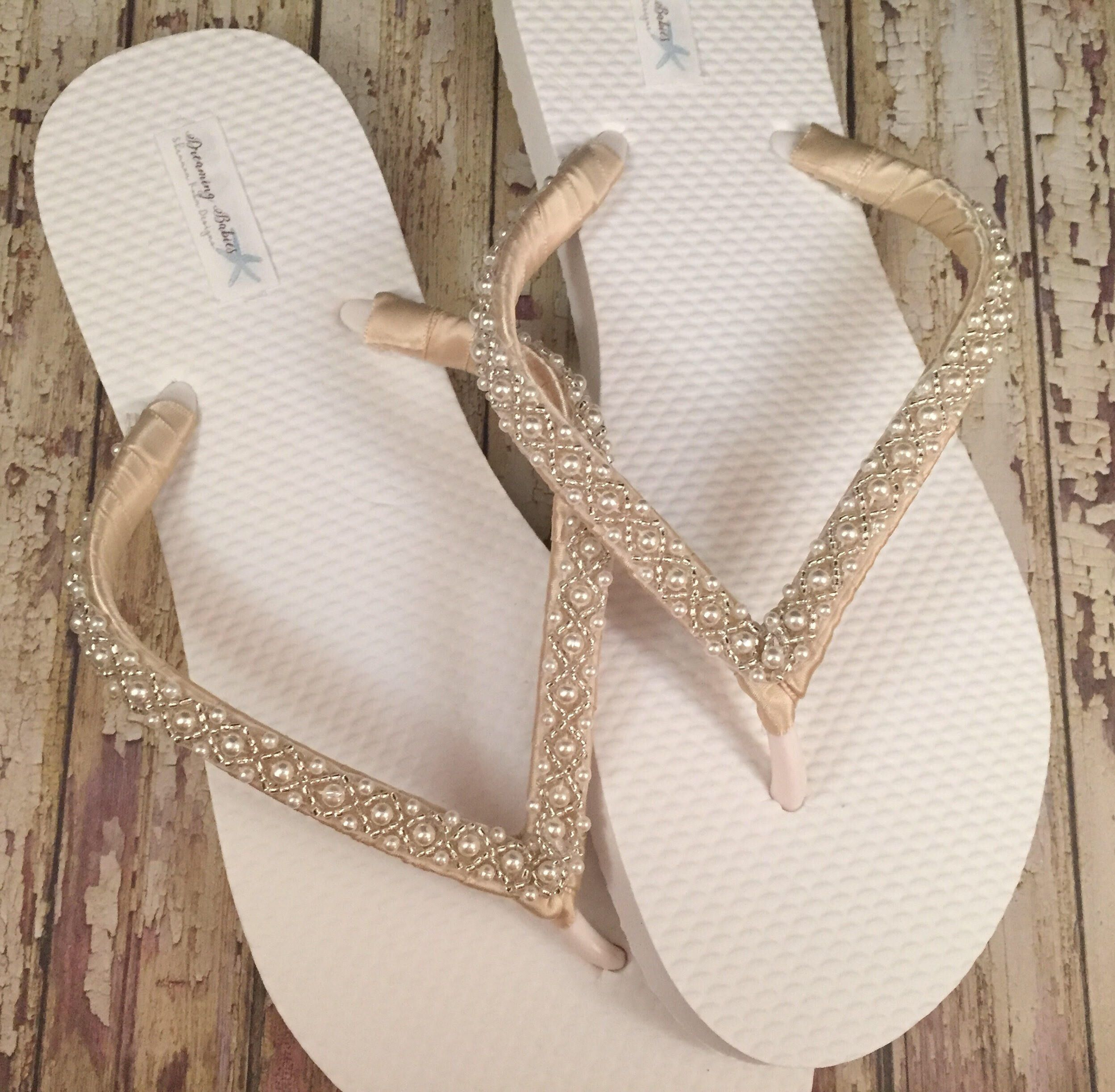 550398268c94df Excited to share the latest addition to my  etsy shop  Emma Bridal Flip  Flops