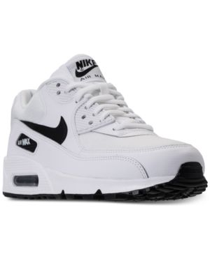 watch f3b72 d901f Nike Women s Air Max 90 Running Sneakers from Finish Line - WHITE BLACK 5.5