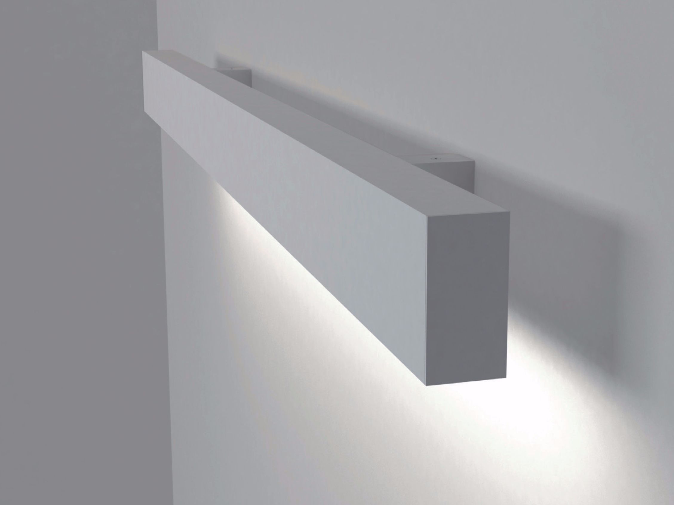 Led direct light aluminium wall lamp infinity wall nexia - Iluminacion led cocina ...