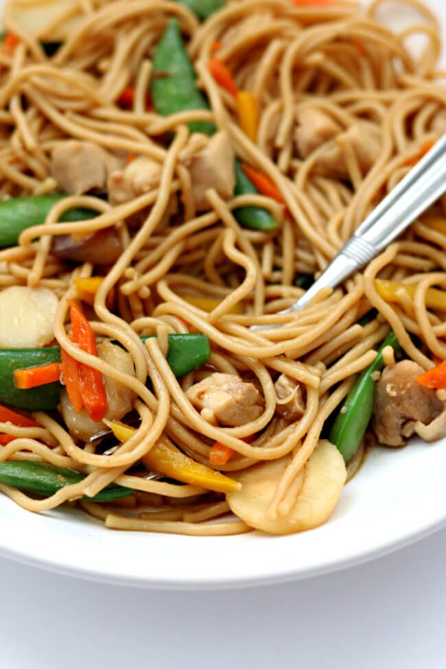 Photo of Instant Pot Chicken Lo Mein – 365 Days of Slow Cooking and Pressure Cooking