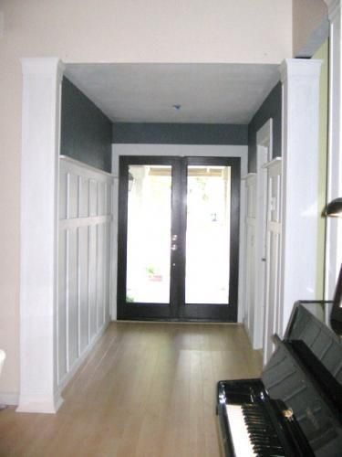 Finally Spruced Up The Entryway Added A New Coat Of Paint And New Glass Doors Cost 500 00 Diditmyself Doors Interior Interior Door Colors Home