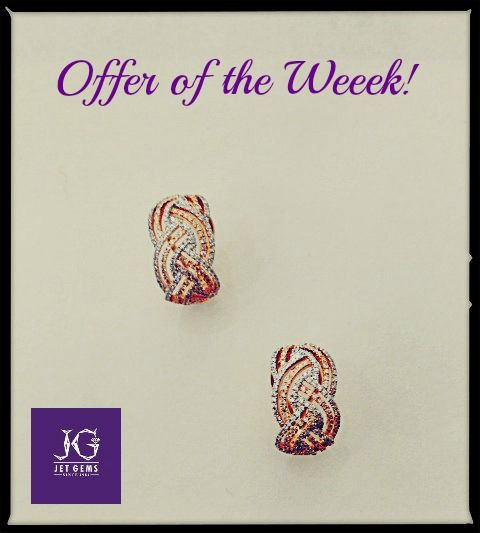This week's offer of the week for Rs. 75,000/- #gold #diamond #earrings #offer #jewellery #JetGems
