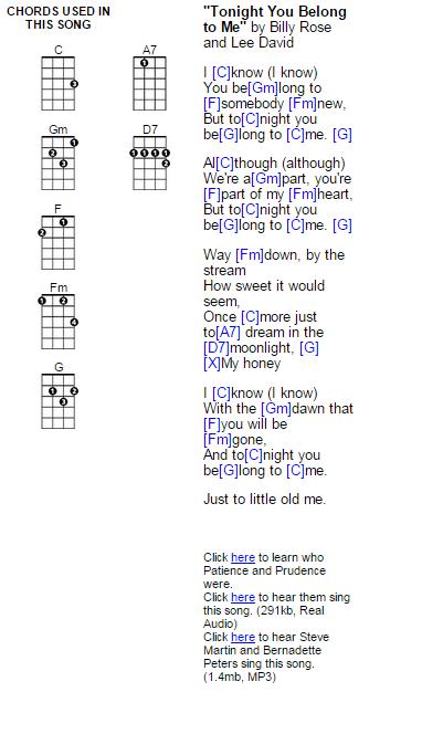 Tonight You Belong To Me Ukulele Chords Learn Ukulele Today
