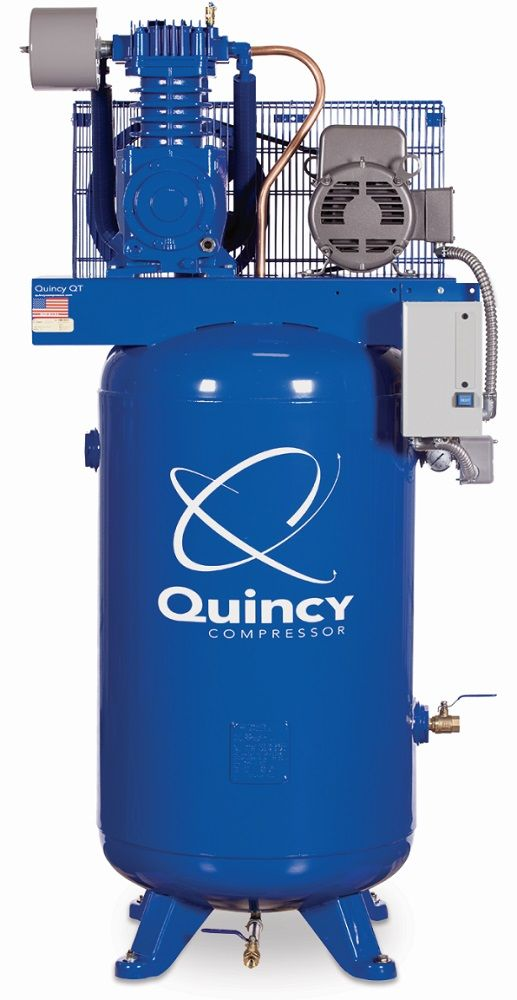 Rural King Air Compressor >> Quincy Qt 5 80 Gallon 5 Hp Two Stage Air Compressor 251cs80vcb By