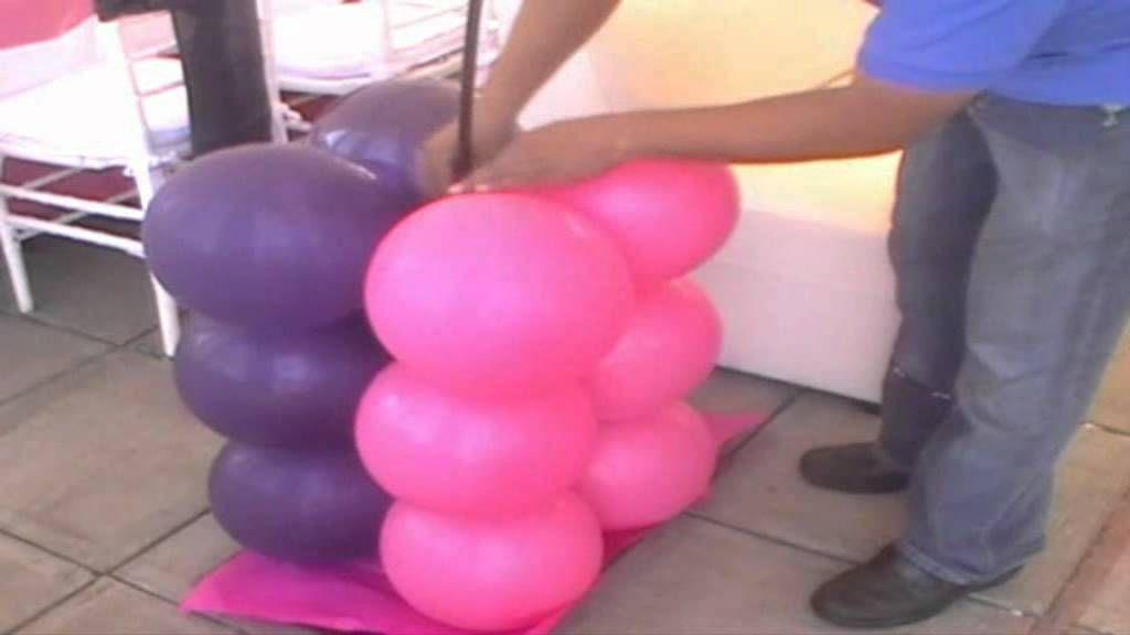 ARCO CON GLOBOS ESTILO BICOLOR CUADRADO | Balloon Decoration/Do Your ...
