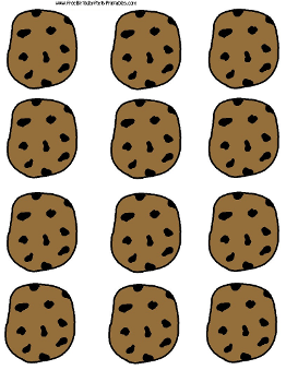 graphic regarding Cookie Printable called Absolutely free Chocolate Chip Cookie Printable Template via No cost