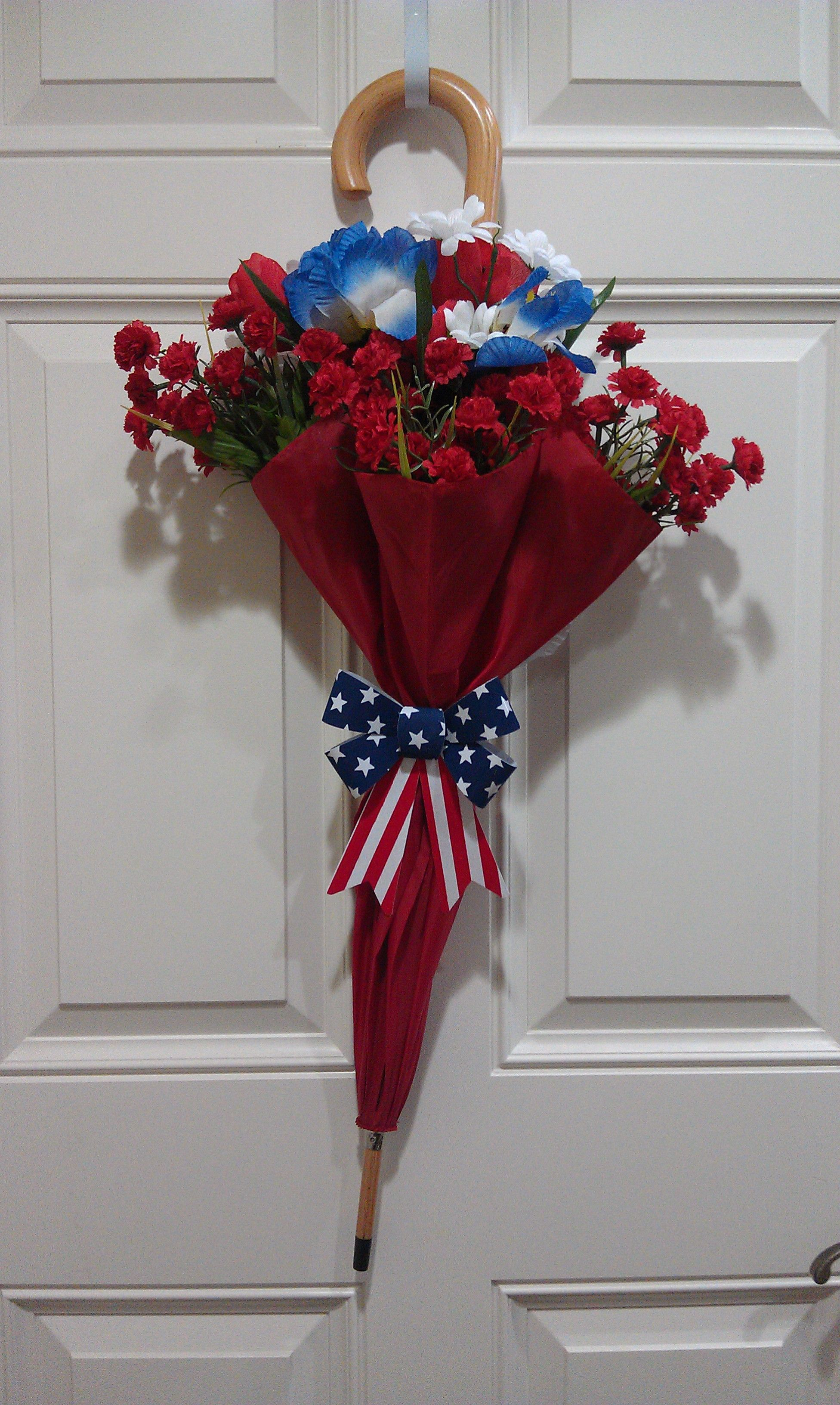 Arrange Some Silk Flowers In An Umbrella Hold The Stems Together
