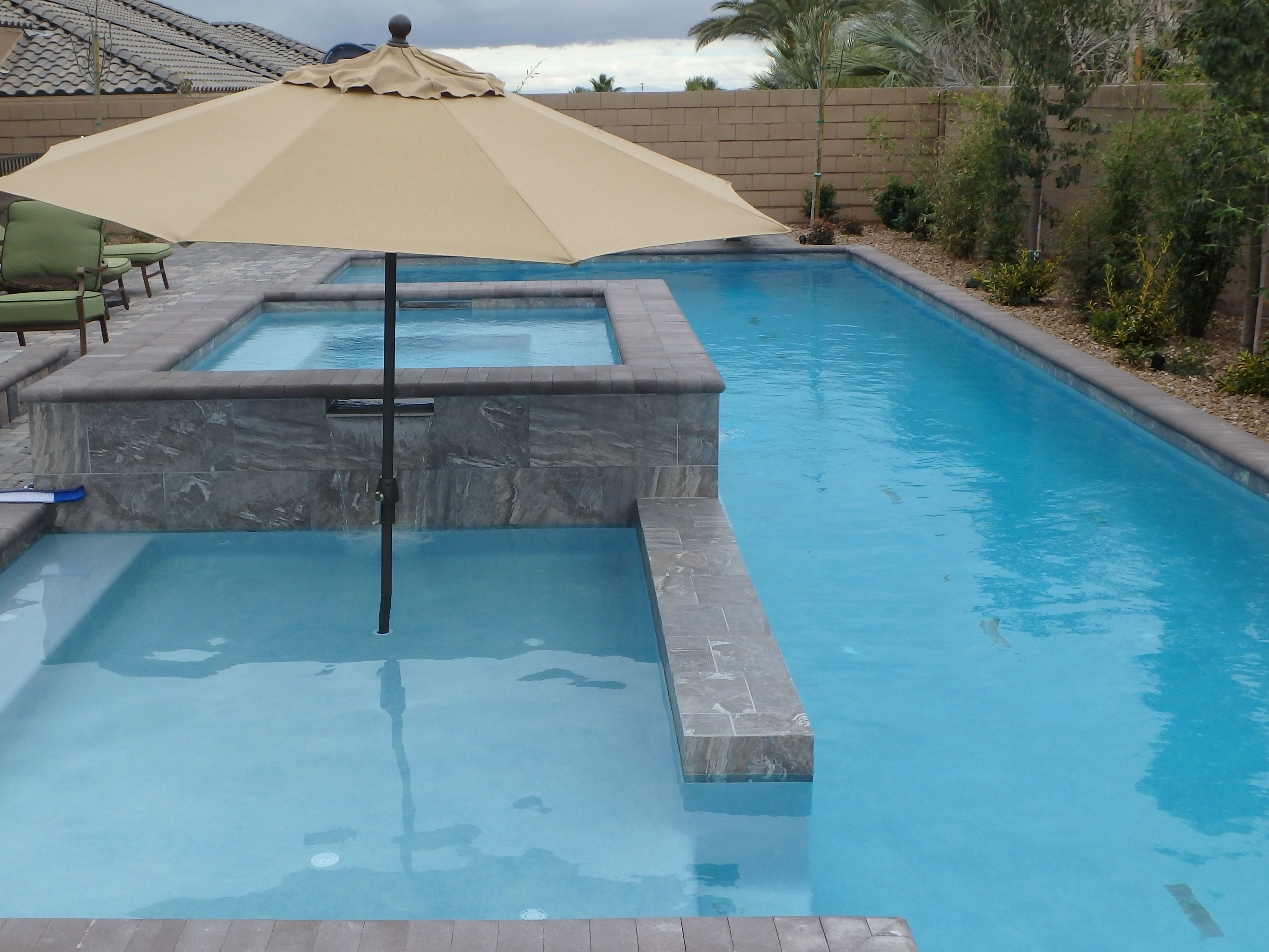Lap pool with spa and sundeck Geometric Pools Pinterest