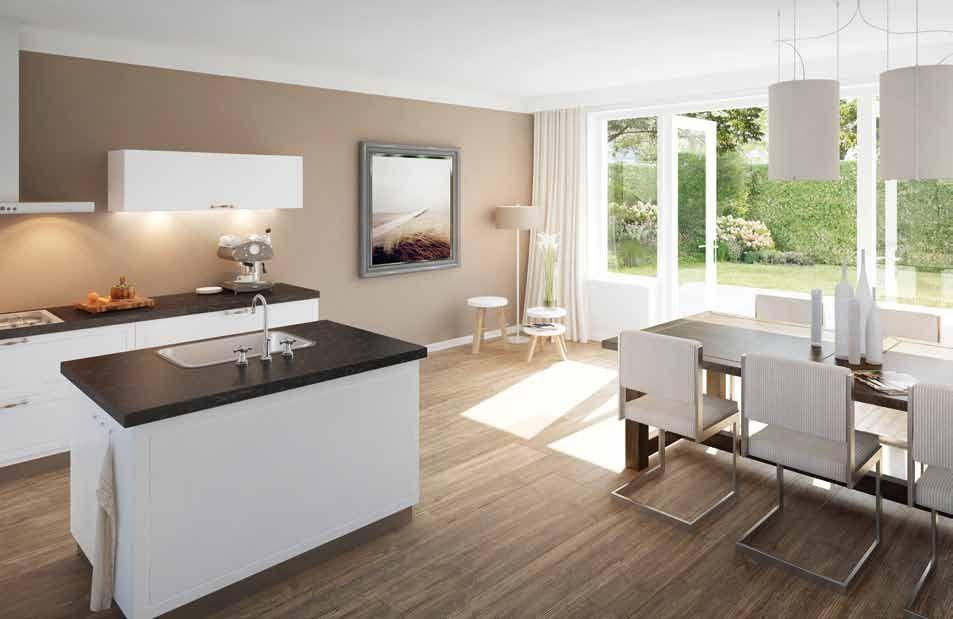 3D keukenontwerp van een moderne open keuken  Open