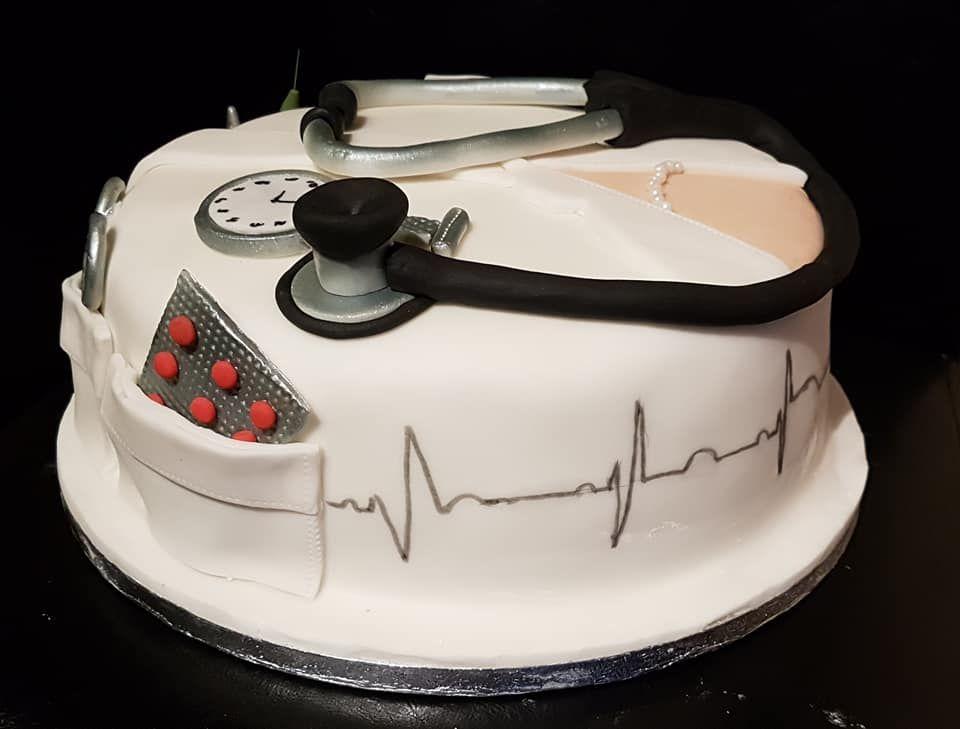 Nursedoctor Themed Birthday Cake For 21st Birthday Formby Cakes