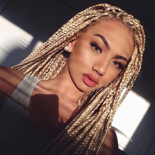 Tresses Africaine Blonde  10 tresses inspirées pour vos cheveux Tresses  Africaine Blonde