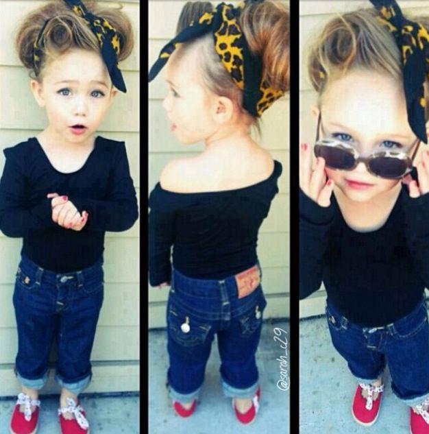 50's greaser style for little girl