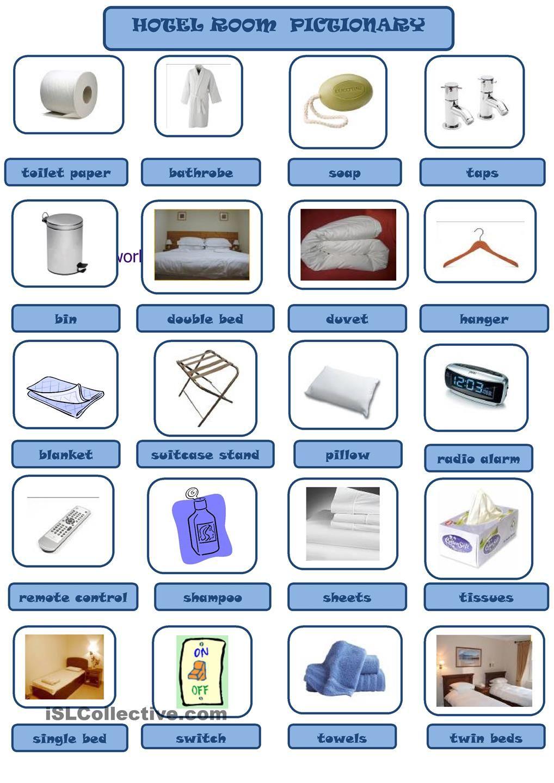 hotel room vocabulary esl pinterest vocabulario en ingles aprender ingl s and viaje ingles. Black Bedroom Furniture Sets. Home Design Ideas