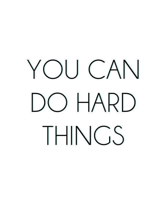 You Can Do Hard Things - Art Print | Fitness inspiration quotes, Fitness motivation quotes inspiration, Fitness motivation quotes