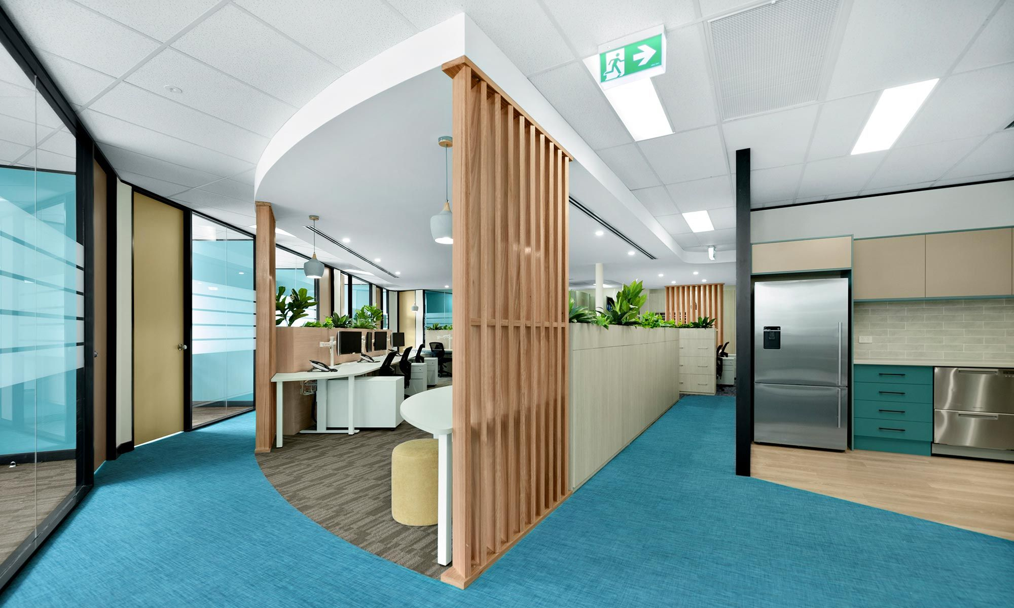 modern open plan office design and fitout for accountants office in