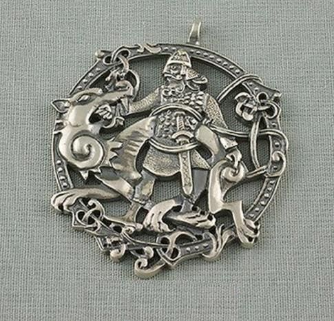 Fenrir & Tyr Pendant Amulet