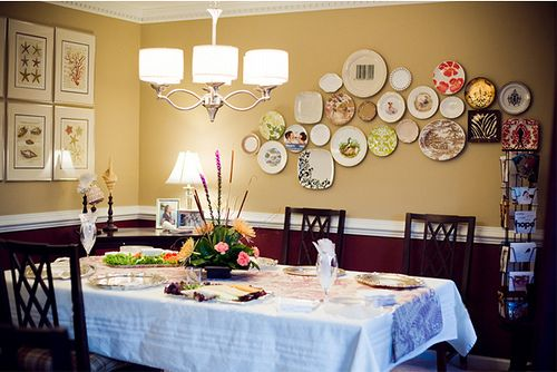 Dining Room Art Take 2 House Into A Home Plates On Wall