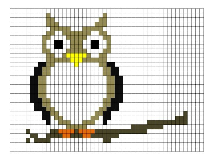 Owl Graph Cross Stitch Owl Knitting Charts Funny Cross