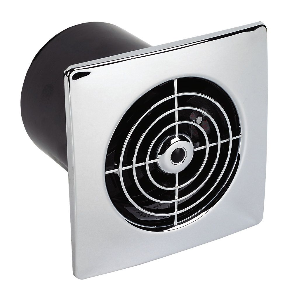 Manrose Lp100st 15w Bathroom Extractor Fan With Timer
