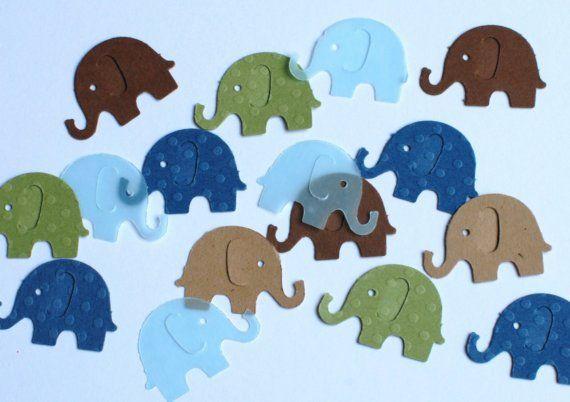 I NEED this Martha Stewart punch! Elephant confetti!