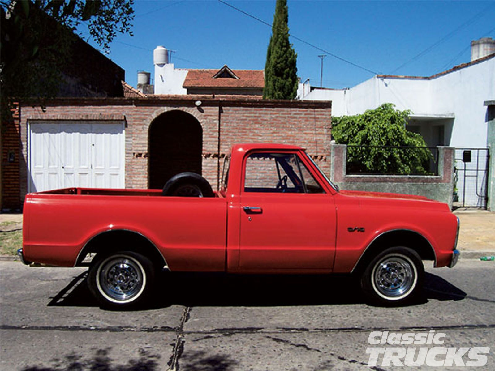 Old Pickup Trucks   1966 Chevy C10 Pickup Truck Low Profile Tires ...