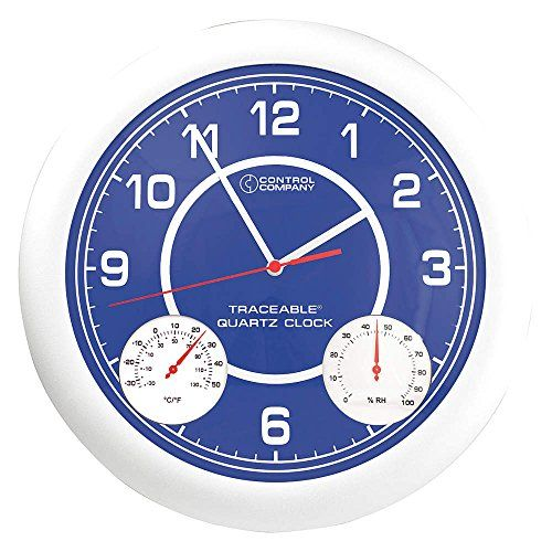 Thomas 1071 Traceable Clock With Thermometer And Humidity 1212 Diameter 10 To 130 Degree F 20 To 55 Degree C Visit The I Clock Wall Clock Analog Wall Clock