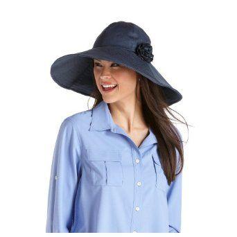 1d4e7cf22eb Coolibar UPF 50+ Women s Seychelles Sun Hat - Sun Protective (One Size -  Denim) Coolibar.  39.50