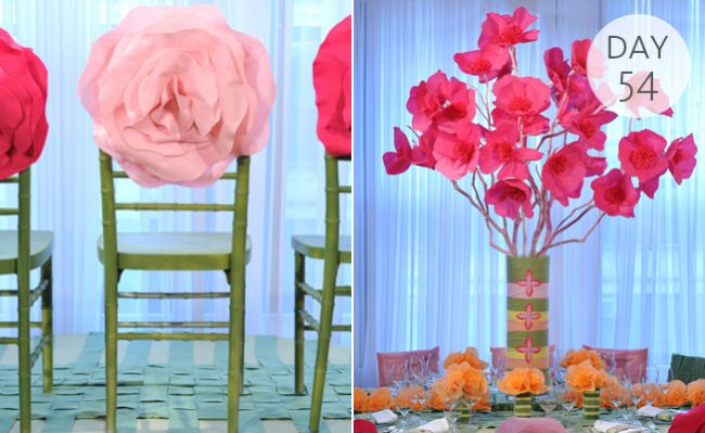 A tissue paper flower centerpiece paper flower centerpieces inspiration of the day a tissue paper flower centerpiece mightylinksfo