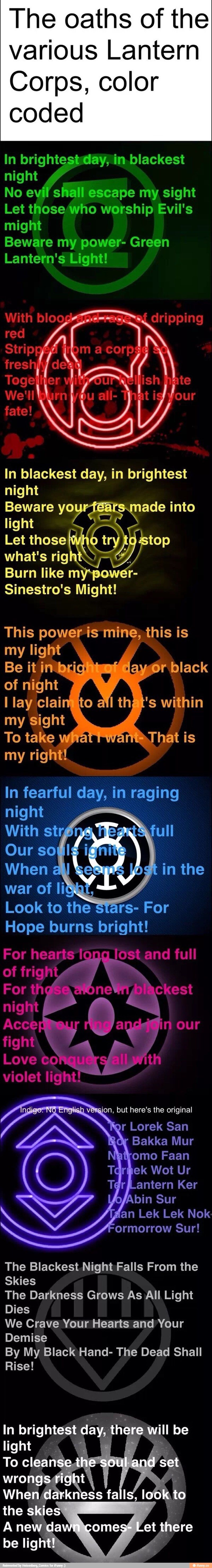 Lantern Oaths | DC | Pinterest | All., Heroes and Green