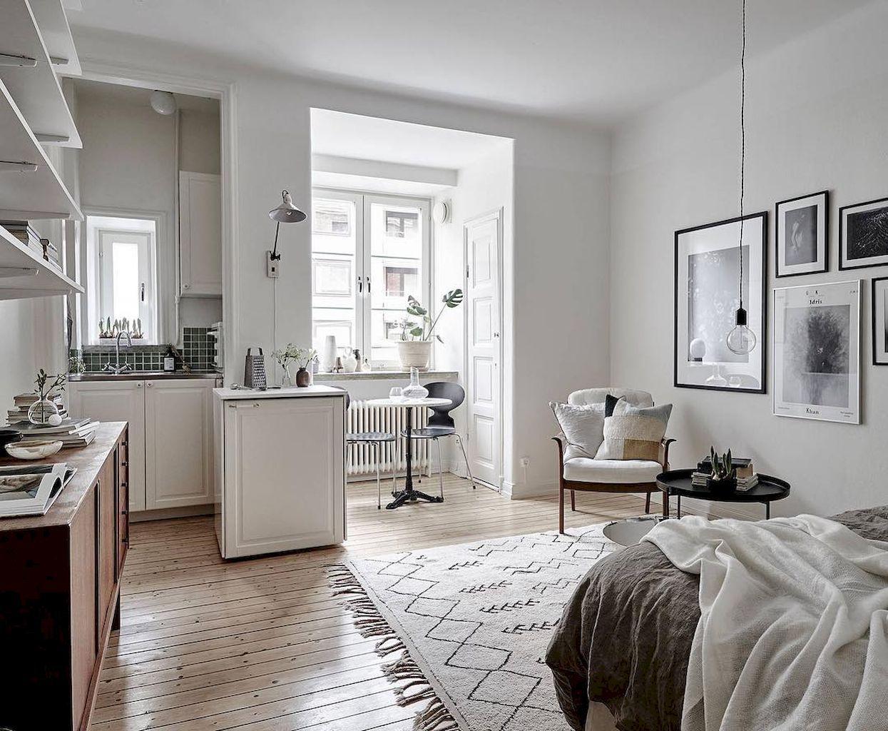 65 stylish scandinavian studios apartment decorating ideas