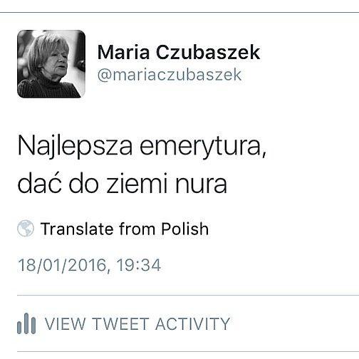 1939 2016 Z Wielkim żalem Informujemy Iż Zmarła Maria Czubaszek
