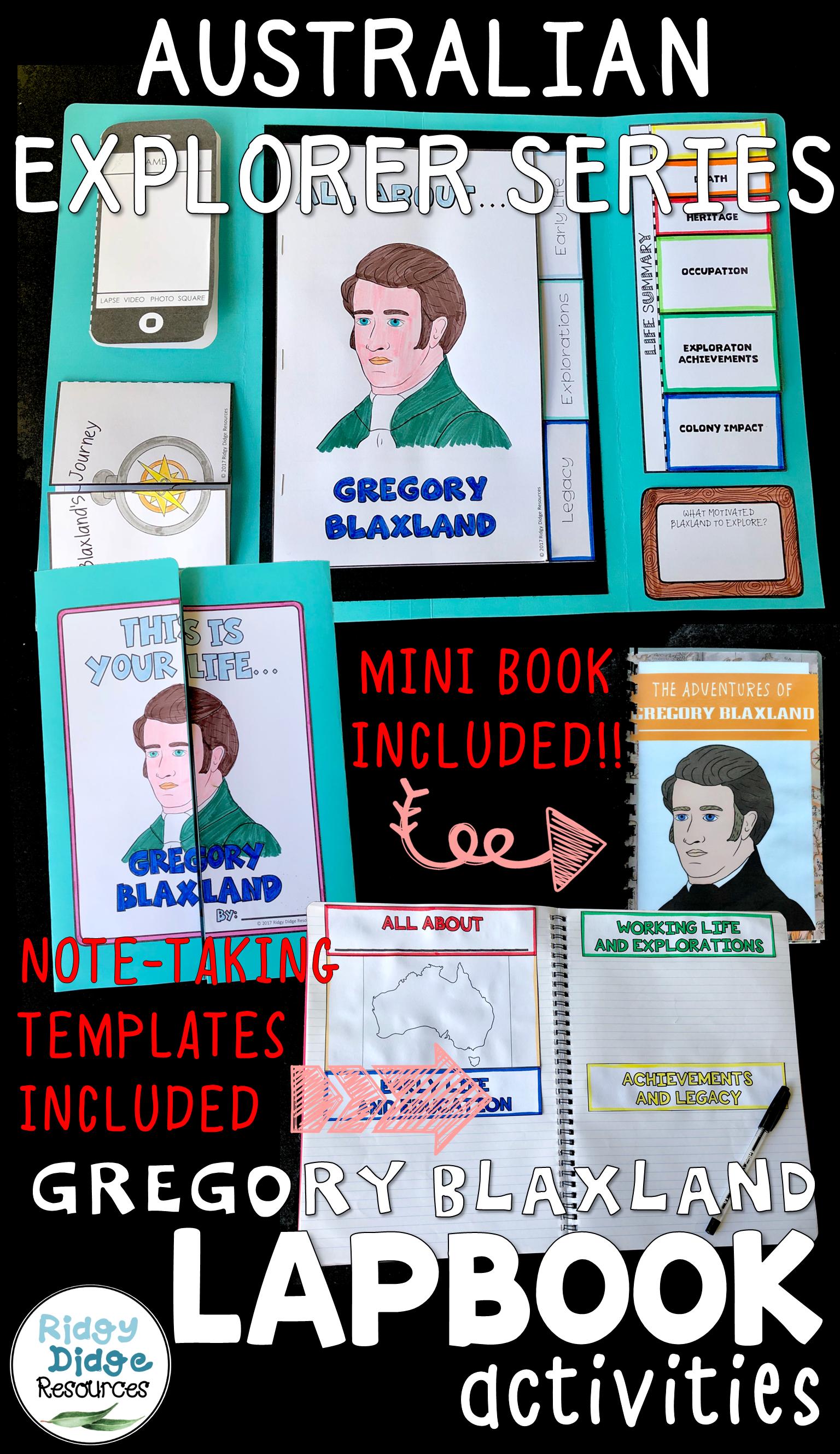 Gregory Blaxland Australian Explorers Lapbook Series (With