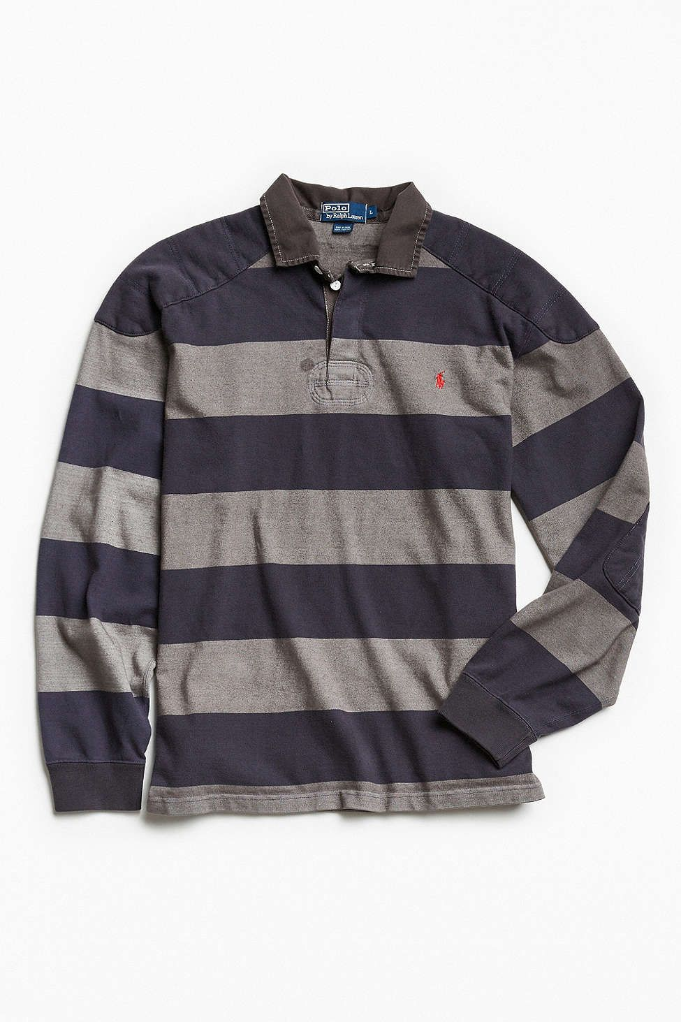 1d5b435a307 Vintage Polo By Ralph Lauren Overdyed Rugby Shirt | CASUAL MEN'S ...